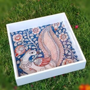 Wooden Kalamkari Square Tray