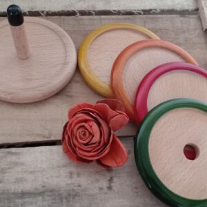 Handmade wooden tea coaster