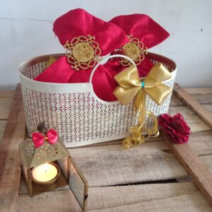 Handmade metal basket
