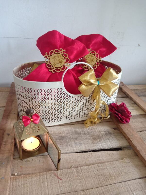Handmade metal basket