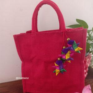 Pink Jute Bags